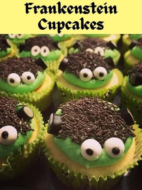 frankenstien cupcakes