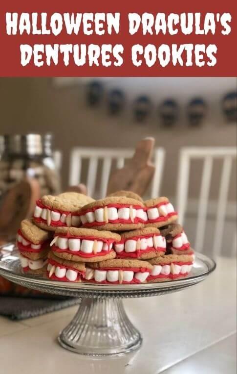 halloween draculas dentures cookies