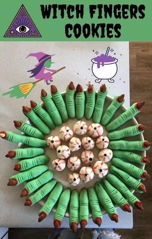 halloween witch fingers cookies