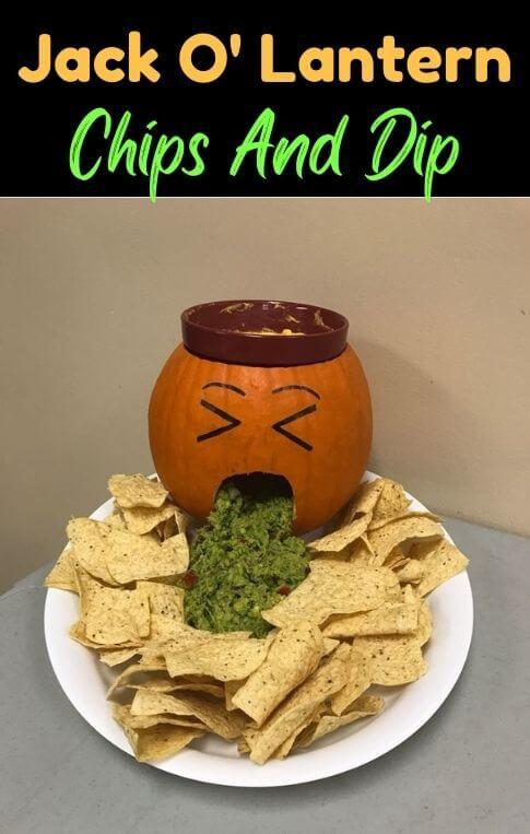 jack o lantern chips dip