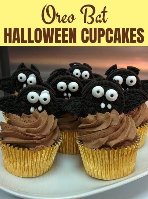 oreo bat halloween cupcakes 1
