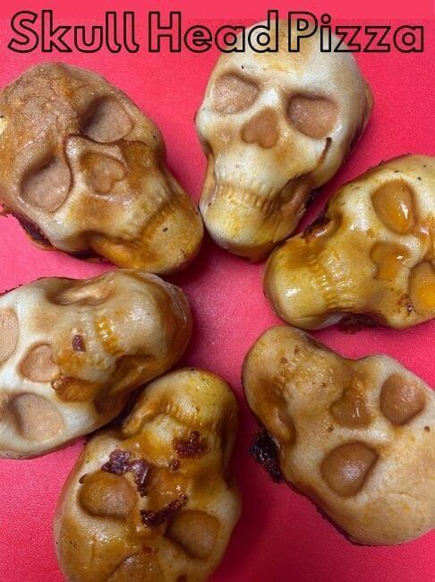 skull head pizza