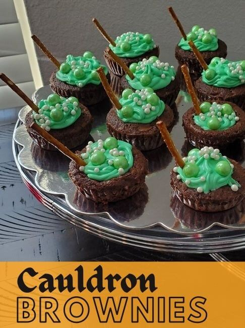 spooky cauldron brownies